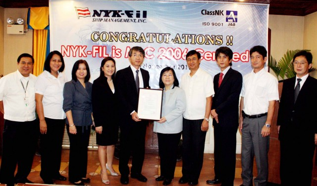 ClassNK Issues First MLC Seafarer Recruitment Certification to NYK-FIL Ship Management Inc