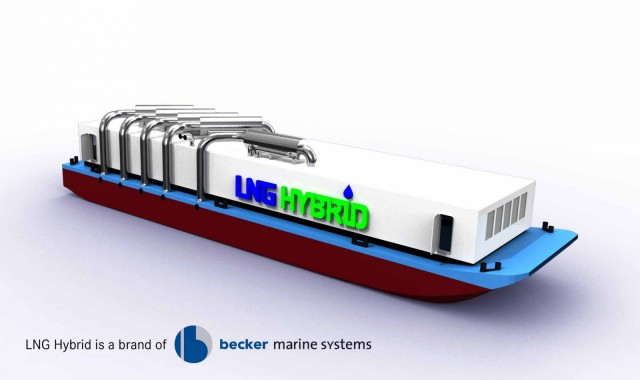 Relief for the environment: LNG Hybrid Barge