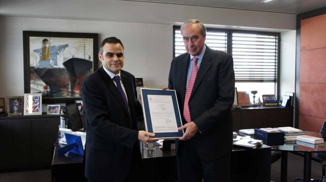 Diana's 'Maersk Malacca' is the first Greek owned vessel to be issued with Maritime Labour Convention (MLC) certification by Lloyd's Register