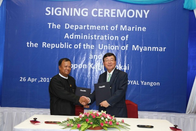 ClassNK Signs Authorization Agreement with the Government of Myanmar