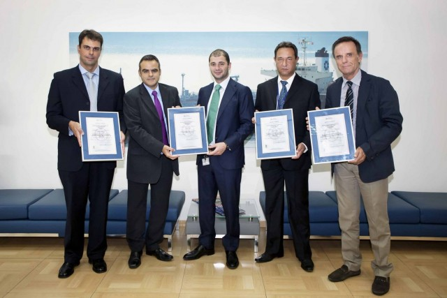 Aegean Shipping Management certified against 4 standards by LRQA
