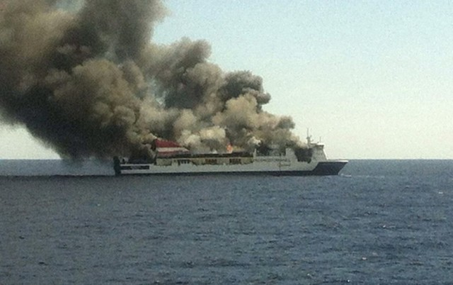 Palma de Mallorca to Valencia ferry fire