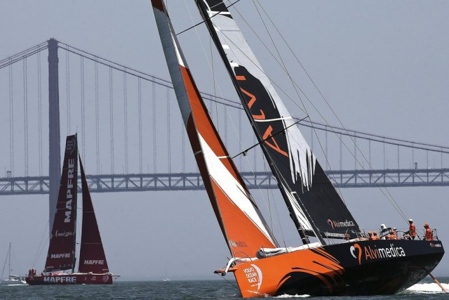 Volvo Ocean race In-Port Race in Lisbon
