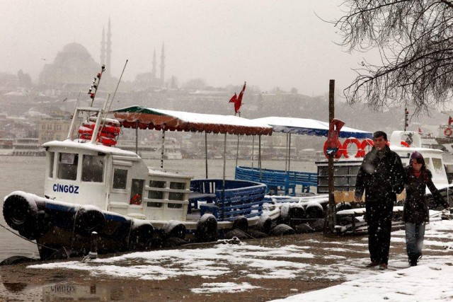 Heavy snowfall and cold spell in Turkey