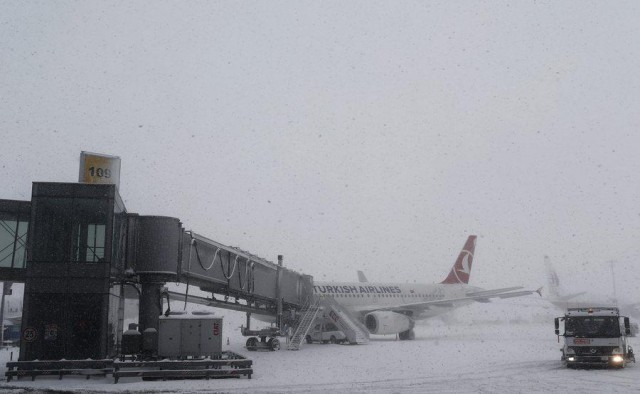 Winterly weather in Istanbul