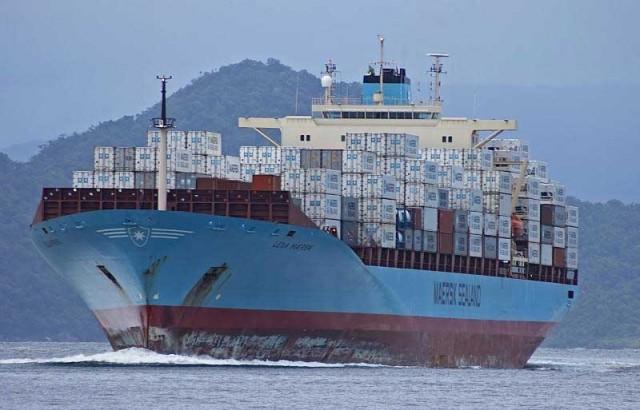 H Maersk εγκαταλείπει το λιμάνι του Gioia Tauro