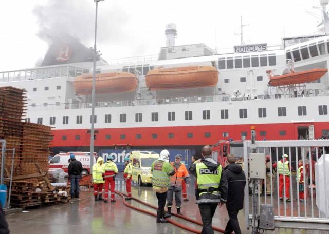 Φωτιά σε Νορβηγικό επιβατηγό πλοίο
