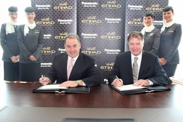 Η Etihad Airways και η Panasonic Avionics υπέγραψαν 10ετή συμφωνία