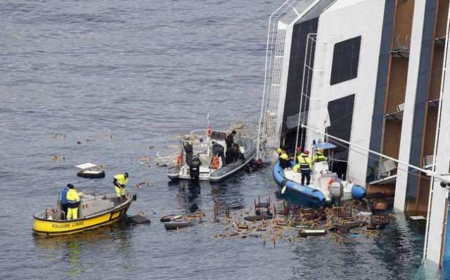 Άρχισαν οι προετοιμασίες άντλησης καυσίμων στο Costa Concordia