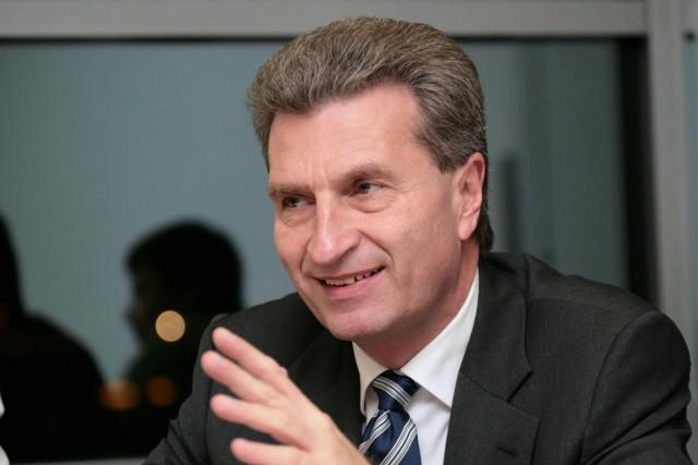 Ο Επίτροπος Günter Oettinger στην Αθήνα
