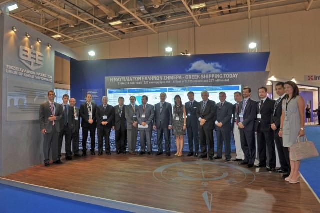 Επίσκεψη της  Ένωσης Ελλήνων Εφοπλιστών στα Ποσειδώνια 2012