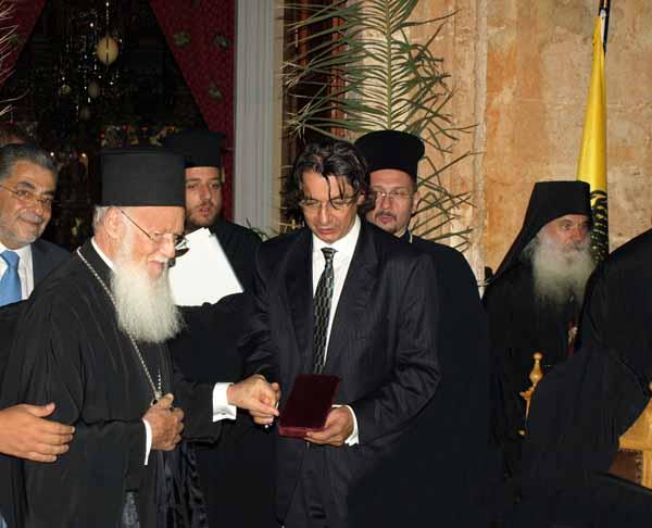 Ο Οικουμενικός Πατριάρχης τιμά την ΑΝΕΚ LINES