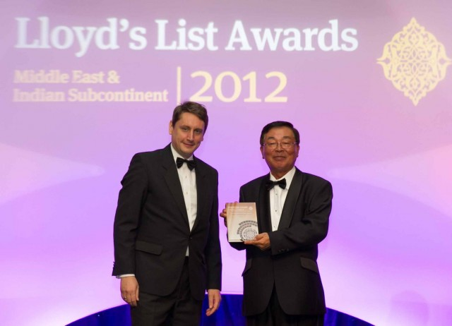 ClassNK Receives Classification Society Award at Lloyd's List Middle East & Indian Subcontinent Awards 2012