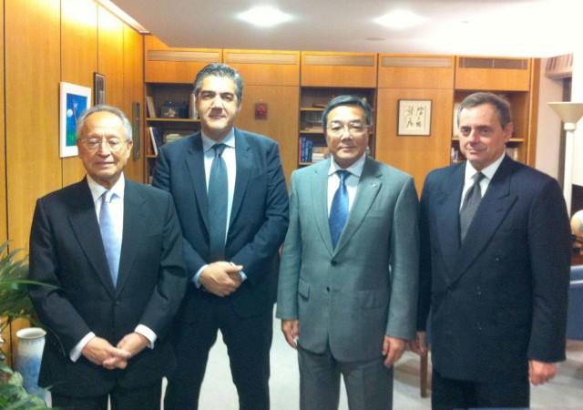 Συνάντηση υπουργού Ναυτιλίας και Αιγαίου με τον γενικό γραμματέα του ΙΜΟ