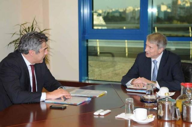 Συνάντηση ΥΝΑ, Κωστή Μουσουρούλη με τον επικεφαλής της Task Force,  Χ. Ράιχενμπαχ