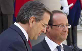 Φρανσουά Ολάντ: Oι Γάλλοι επιχειρηματίες είναι έτοιμοι να επενδύσουν και πάλι στην Ελλάδα