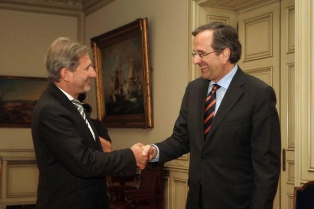 Ενθαρρυντικά μηνύματα από την επίσκεψη του Επιτρόπου Johannes Hahn