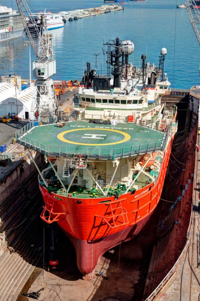 Gibdock brings in first Technip ship