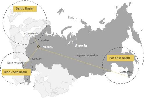 Αύξηση διακίνησης στα λιμάνια της Ρωσίας το πρώτο τετράμηνο