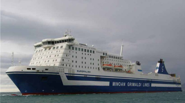 Στη νησίδα «Περιστέρες» προσέκρουσε το Europalink