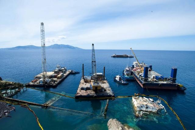 Ανελκύσθηκε και το πρυμναίο τμήμα του φορτηγού πλοίου «M/V YUSUF CEPNIOGLU»