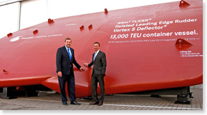 Becker Marine Systems delivers rudder for the largest container ship in the world