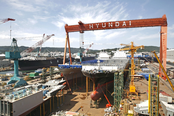 Αναδιαρθρώνονται τα ναυπηγεία της Ν.Κορέας