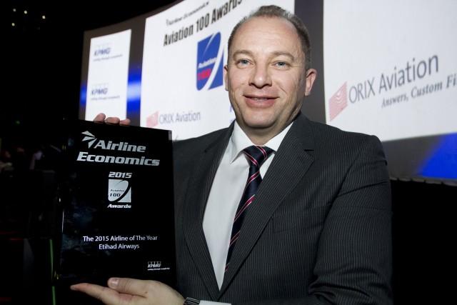 H Etihad Airways κέρδισε το βραβείο «Αεροπορική Εταιρεία της Χρονιάς» στα 'Aviation 100 Awards'