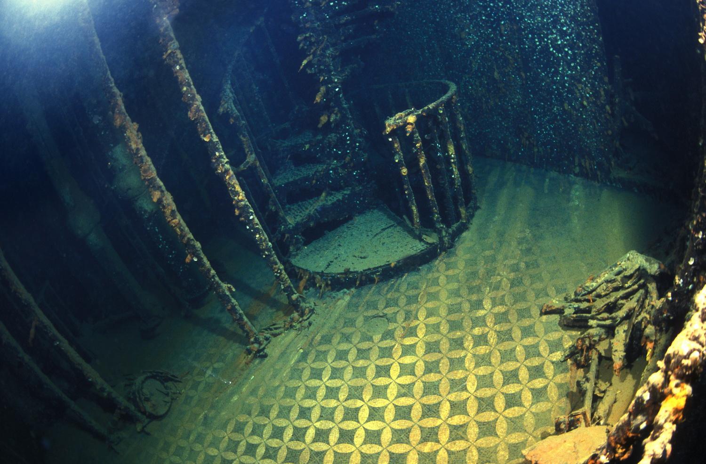 Image result for hmhs britannic wreck interior