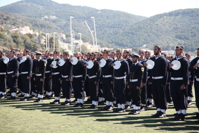Ορκωμοσία των ναυτών της Β΄ ΕΣΣΟ 2015 στον Πόρο