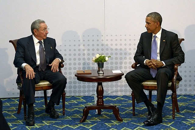 Ιστορική συνάντηση Ομπάμα-Κάστρο