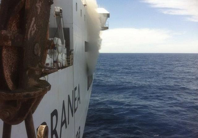 Φωτιά σε επιβατικό-οχηματαγωγό πλοίο στη Μαγιόρκα