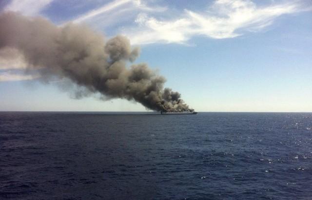 Palma de Mallorca to Valencia ferry fire