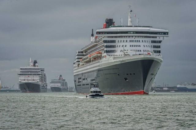 Συνάντηση κορυφής για τις τρείς… βασίλισσες της Cunard Line