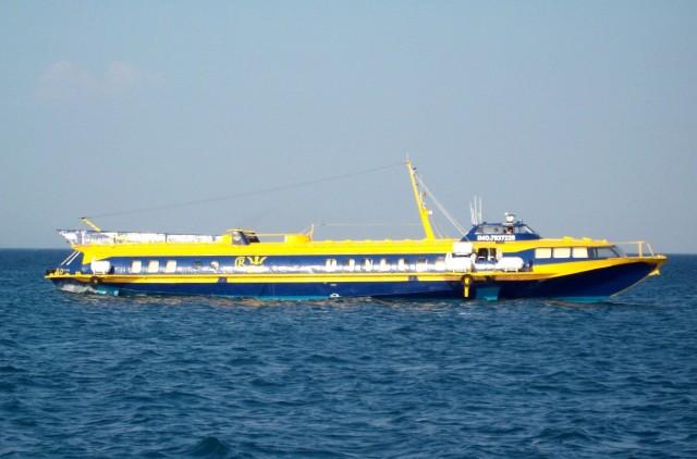 Ακυβέρνητο ιπτάμενο δελφίνι ανοικτά της Κώ