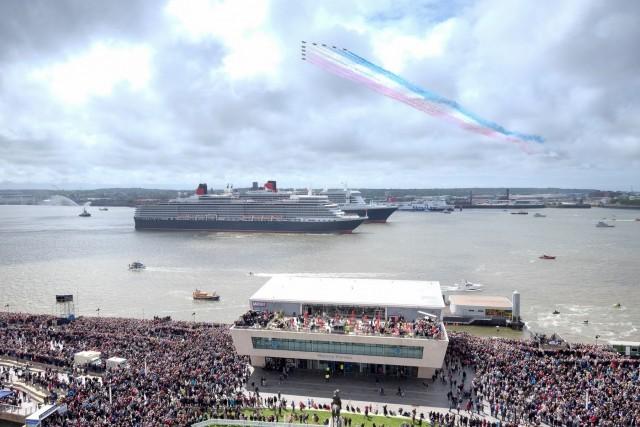 """Συνάντηση κορυφής για τις 3 """"βασίλισσες"""" της Cunard στο Λίβερπουλ"""