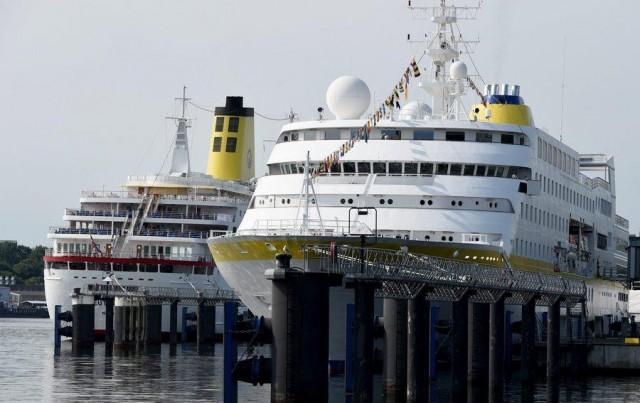MS Deutschland at Baltic Sea Wharf in Kiel