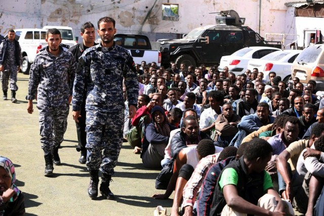 Libya detains more alleged migrants as EU mulls military operation to stem flow of people to Europe