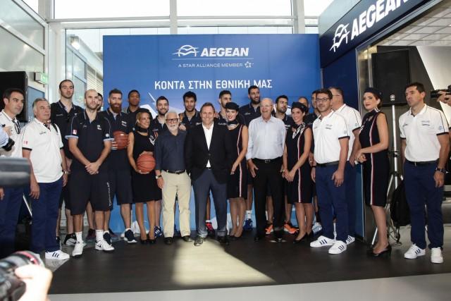 H Aegean αναλαμβάνει αποκλειστικός αερομεταφορέας όλων των Εθνικών Ομάδων Καλαθοσφαίρισης
