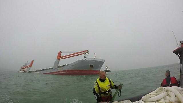 Σύγκρουση πλοίων ανοιχτά των ακτών του Βελγίου