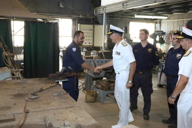 Στιγμιότυπα από την επίσκεψη του αρχηγού ΓEN στο Ναύσταθμο Κρήτης