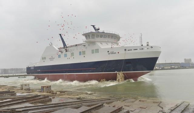 Η Damen παρέδωσε το νέο  ice-class RoPax  «MV Veteran»