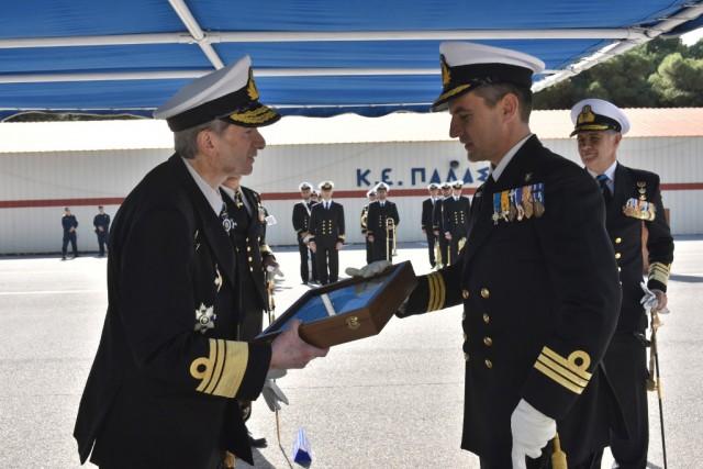 Τελετή παράδοσης παραλαβής καθηκόντων διοικητού Διοίκησης Ναυτικής Εκπαίδευσης