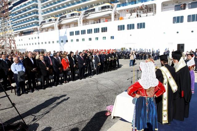 Στην Κέρκυρα εγκαινιάστηκε η νέα προβλήτα κρουαζιερόπλοιων