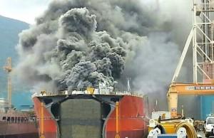 dsme_shipyard_fire