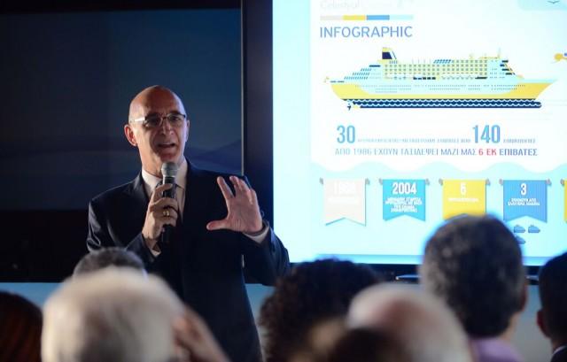 Ο Κυριάκος Αναστασιάδης, Διευθύνων Σύμβουλος, Celestyal Cruises.