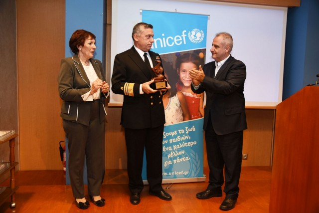 Στο ΛΣ απενεμήθη το βραβείο της Unisef «Σταύρος Κανελλόπουλος»