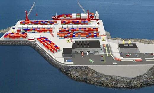 O νέος εμπορικός λιμένας του Nuuk στην Γροιλανδία