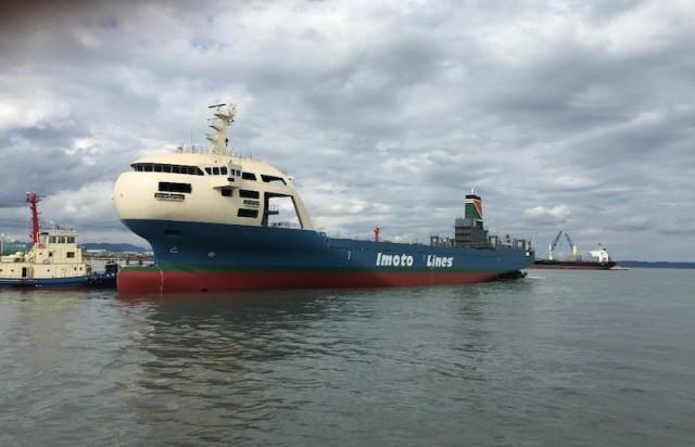 Νέο πλοίο μεταφοράς εμπορευματοκιβωτίων με αεροδυναμικό σχεδιασμό πλώρης