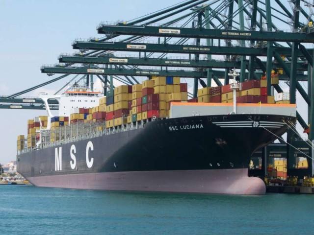 Το ΜSC Luciana, το μεγαλύτερο πλοίο εμπορευματοκιβωτίων, επισκέπτεται το Κόπερ